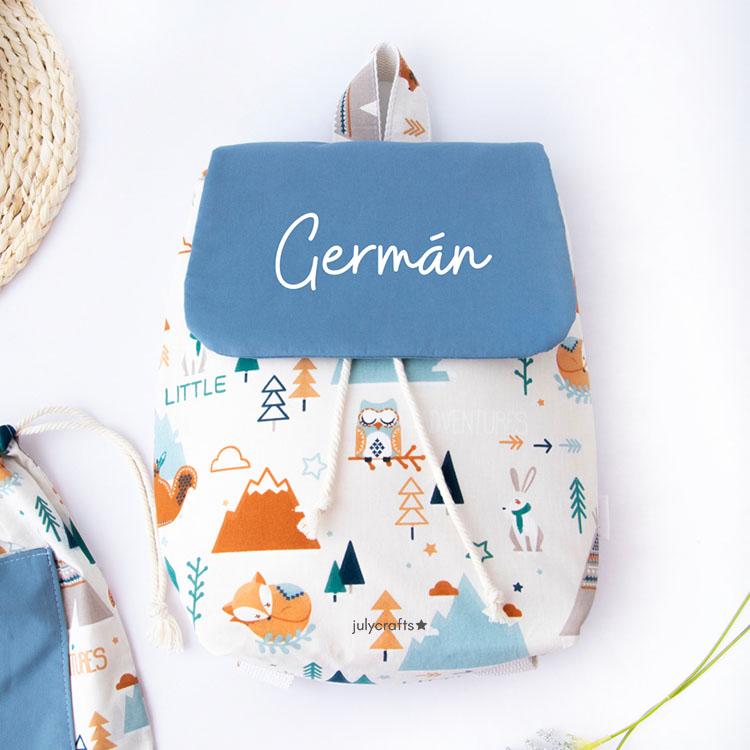mochila con solapa infantil para guarderia mochila regalo de nacimiento mochila personalizada julycrafts ciudad real
