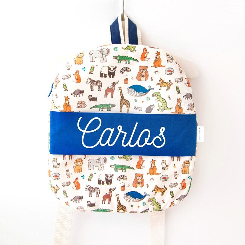 mochila infantil para guarderia mochila regalo de nacimiento mochila personalizada julycrafts ciudad real cremallera2